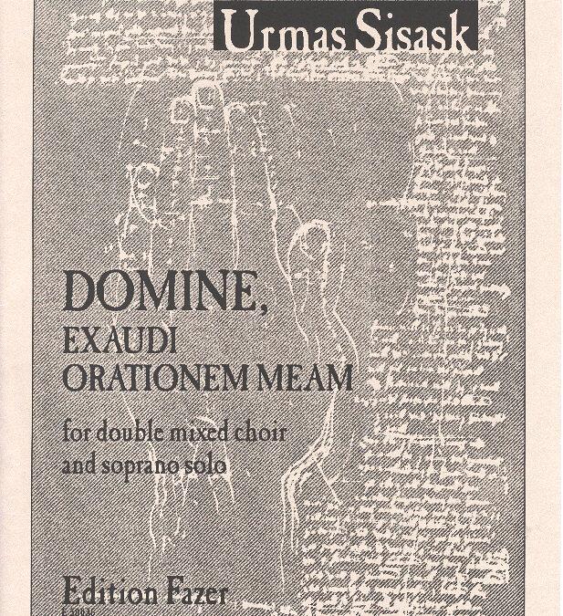 Domine, exaudi orationem meam (min 3)