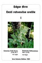 Estonian Folk Tunes for organ I
