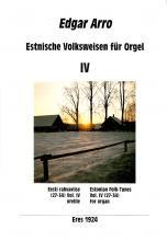 Estonian Folk Tunes for organ IV
