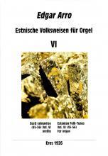 Estonian Folk Tunes for organ VI
